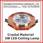 COLORFUL LED Crystal Ceiling Spot Light 3W LED Crystal ceiling spot lamp-BW-LCL-3004